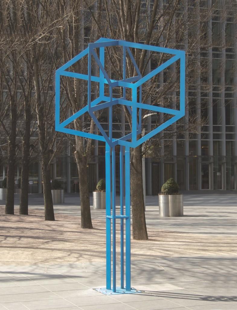 Suresh Dutt: Drawing Cube (blue)