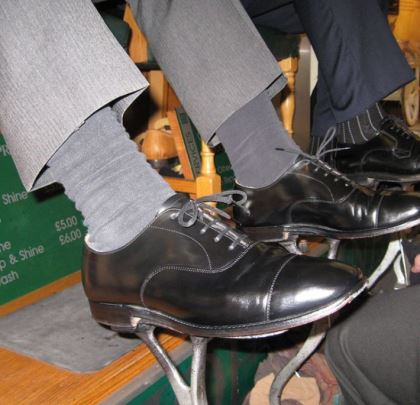 James Shoe Shine Chair
