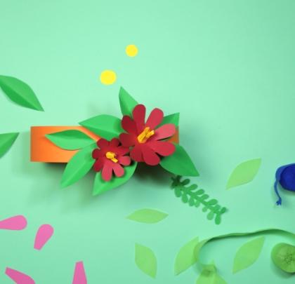 Paper Floral Crowns workshop