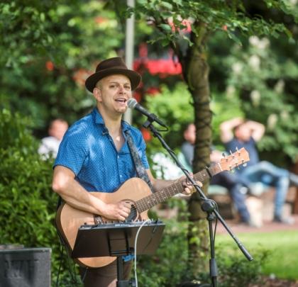 Musician in Canada Square Park