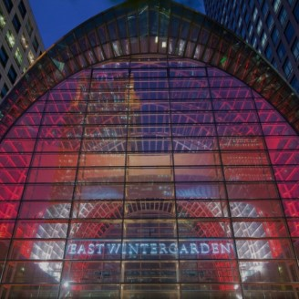 East Wintergarden Lights it Red