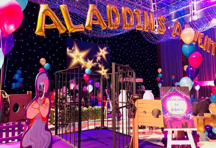 Parties of Christmas Past: Aladdin-Themed Children & Family Party