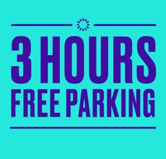3 Hours' Free Parking