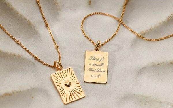 Monica Vinader, Talisman Heart Pendant, £85, Complimentary Engraving Available