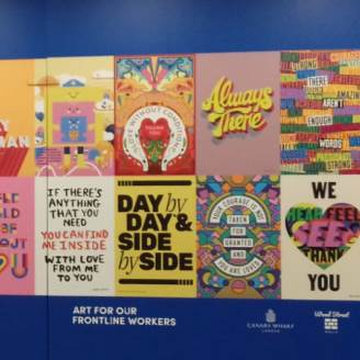 Posters for the People 2.0 showcases in Canary Wharf