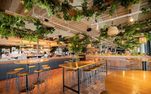 Pergola On The Wharf in Crossrail Place, Now Open