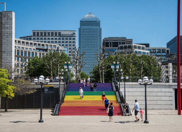 Pride at Canary Wharf