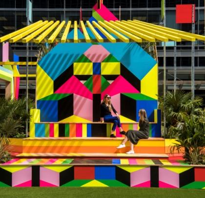 Sun Pavilion by Morag Myerscough